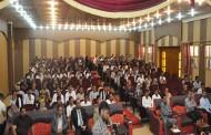 محاضرة عن القانون الدولي الإنساني تقدمها جمعية الهلال الأحمر في جامعة المثنى