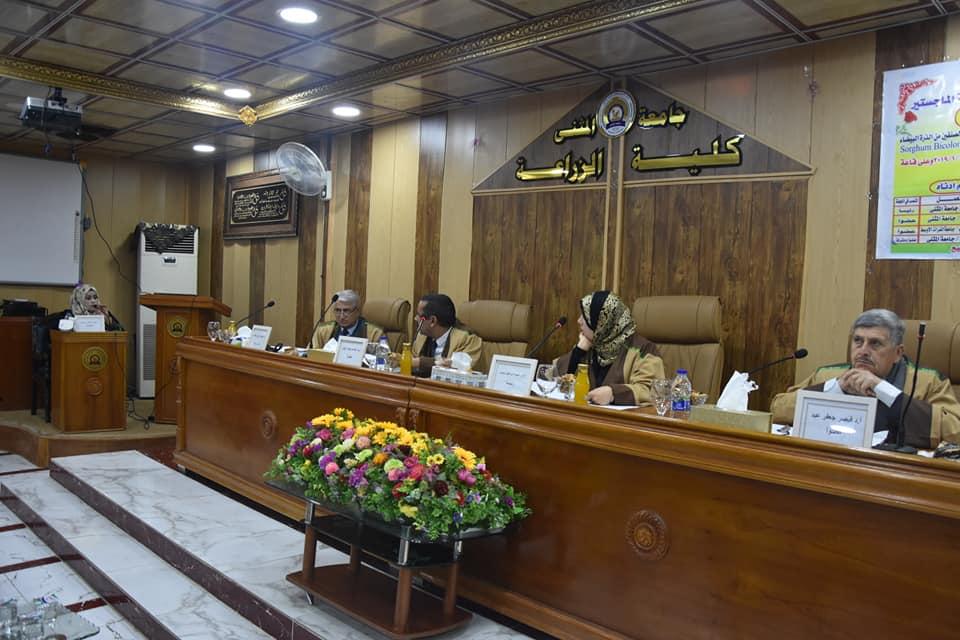 كلية الزراعة تمنح شهادة الماجستير للطالبة دعاء هادي حمزة
