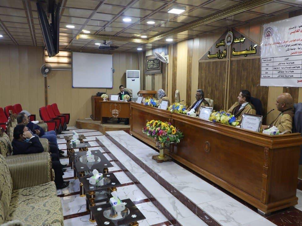 جامعة المثنى تناقش رسالة ماجستير تبحث في العلاقة بين بعض الواسمات الوراثية لدى الجاموس العراقي