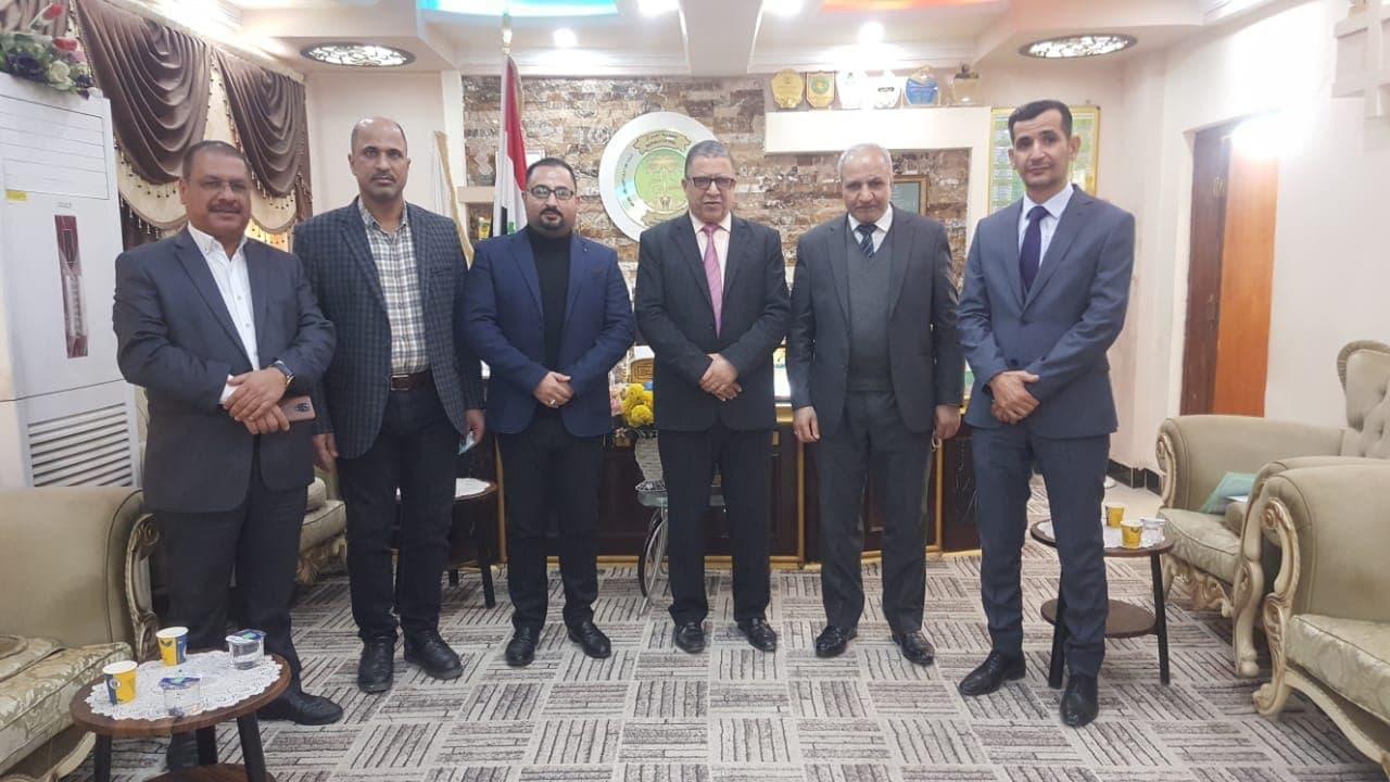 جامعة المثنى تبحث تعزيز التعاون العلمي مع مديرية التربية في المحافظة