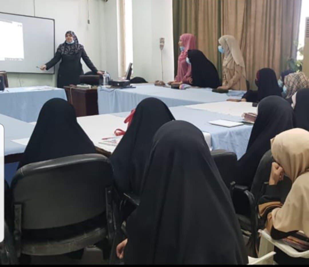 جامعة المثنى تنظم محاضرات تفاعلية في اللغة الانجليزية لشرائح نسوية