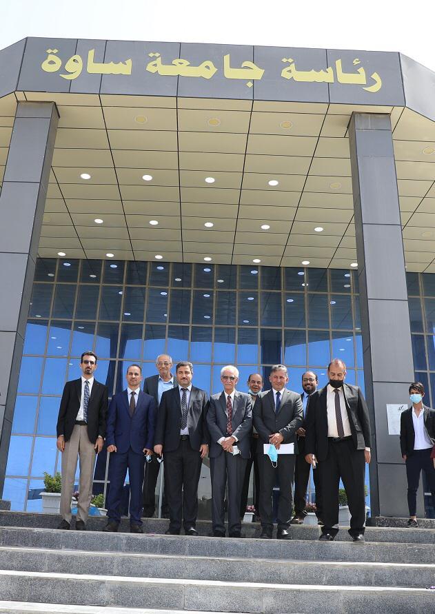 جامعة المثنى ممثلة عن وزارة التعليم تزور جامعات أهلية في المحافظة