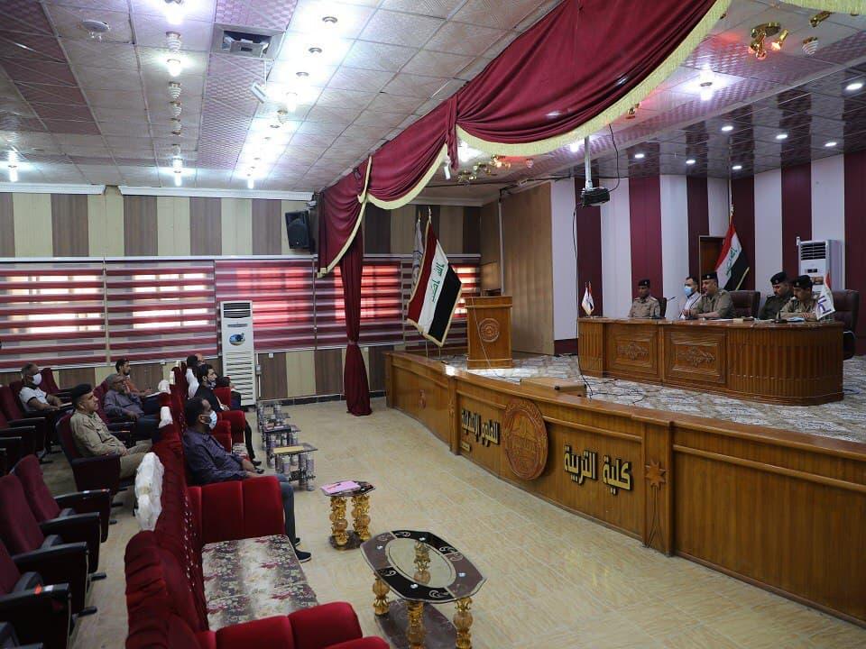 جامعة المثنى تنظم ورشة عمل عن السلامة العامة بالتعاون مع مديرية الدفاع المدني في المحافظة