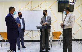 رئيس جامعة المثنى يتابع الاستعدادات النهائية للامتحانات الحضورية