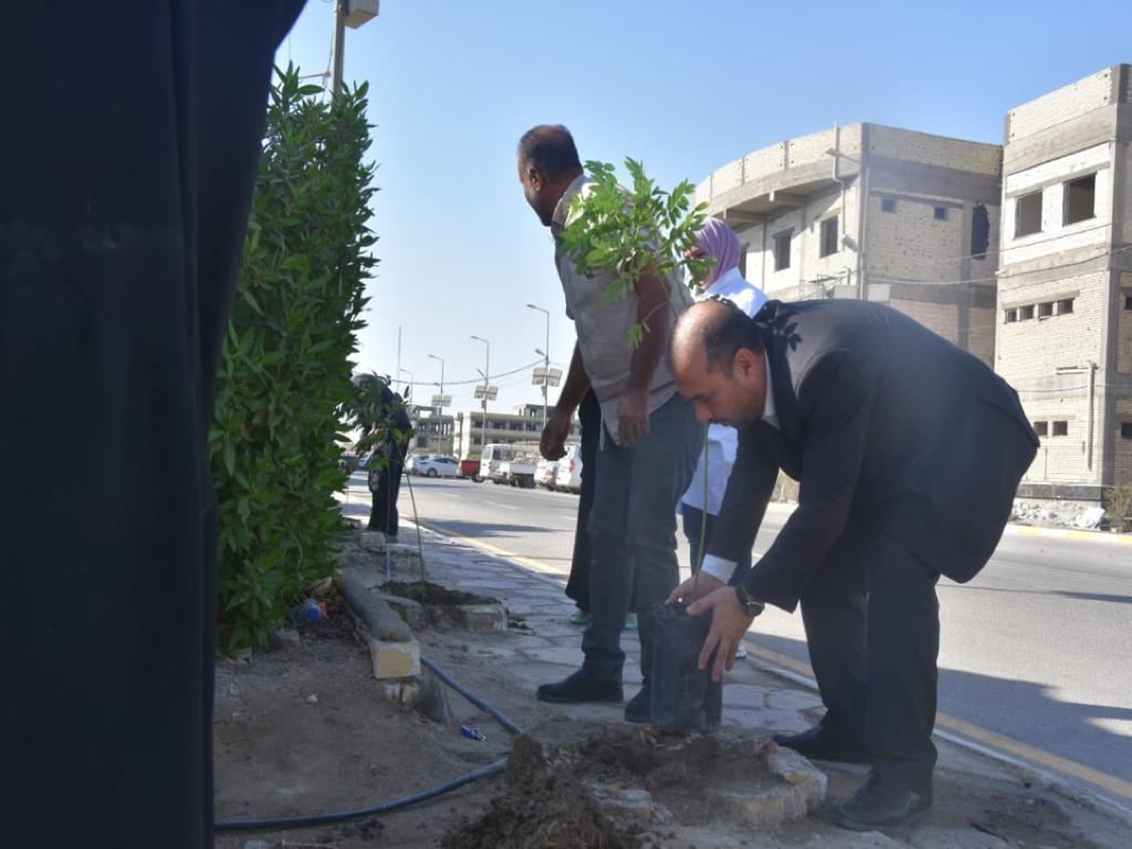 جامعة المثنى تطلق المرحلة الثالثة من مشروع المليون شجرة